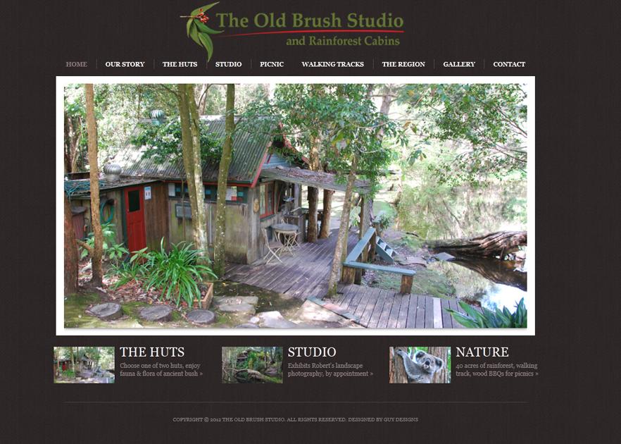 CMS website design for The Old Brush