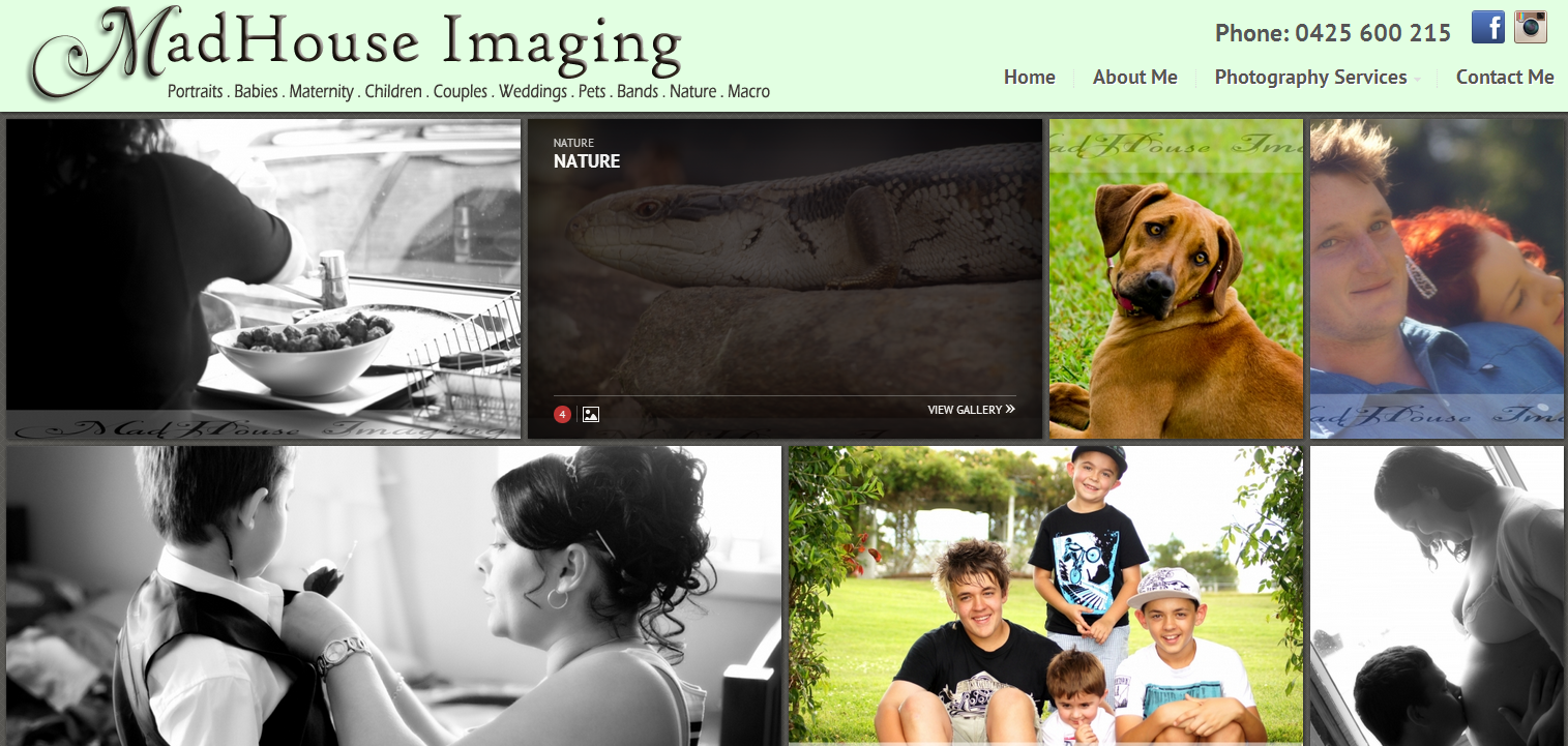 Wordpress CMS design for Madhouse Imaging