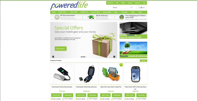 E-Commerce design for Powered Life