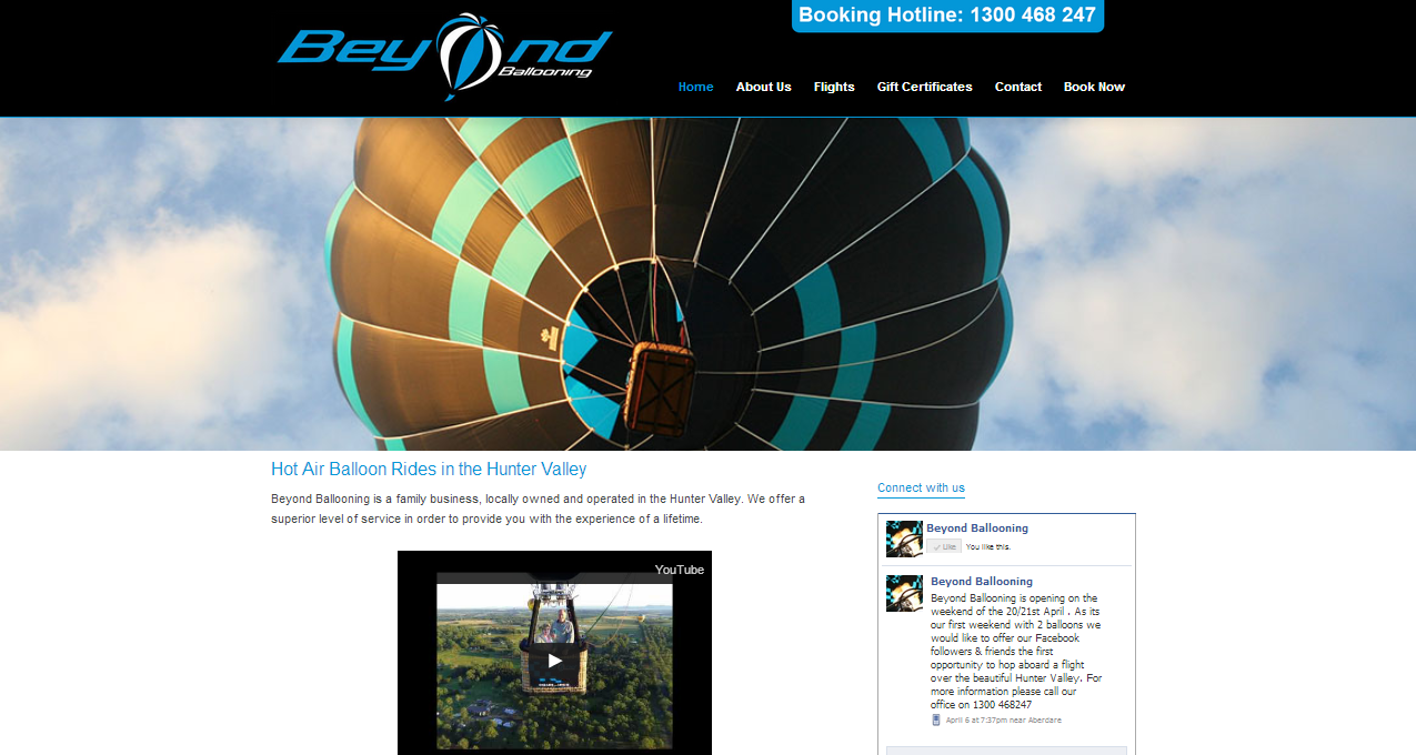 Beyond Ballooning - New website's home page
