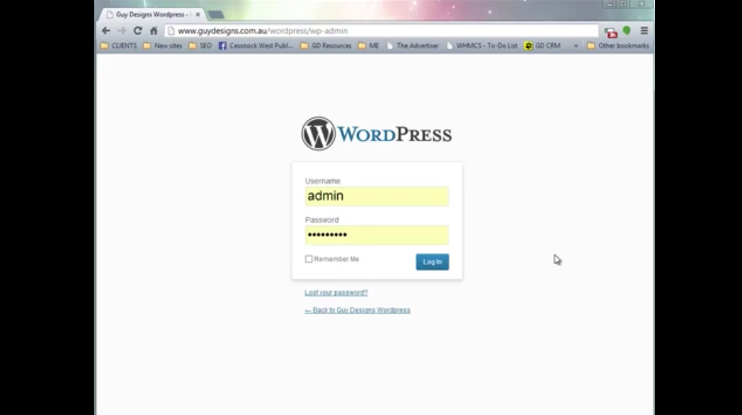 Wordpress Admin intro